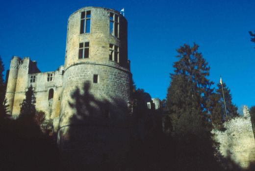 The castle of Beaufort built in sandstone