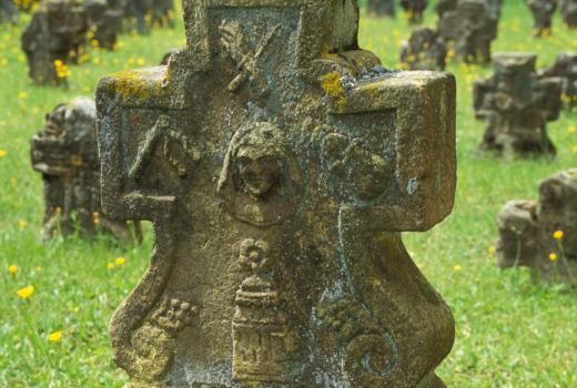 Tombstone. 18. century. Junglinster, churchyard